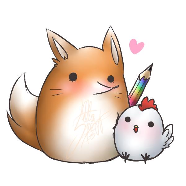 DRAW: Fox an' Chicken.