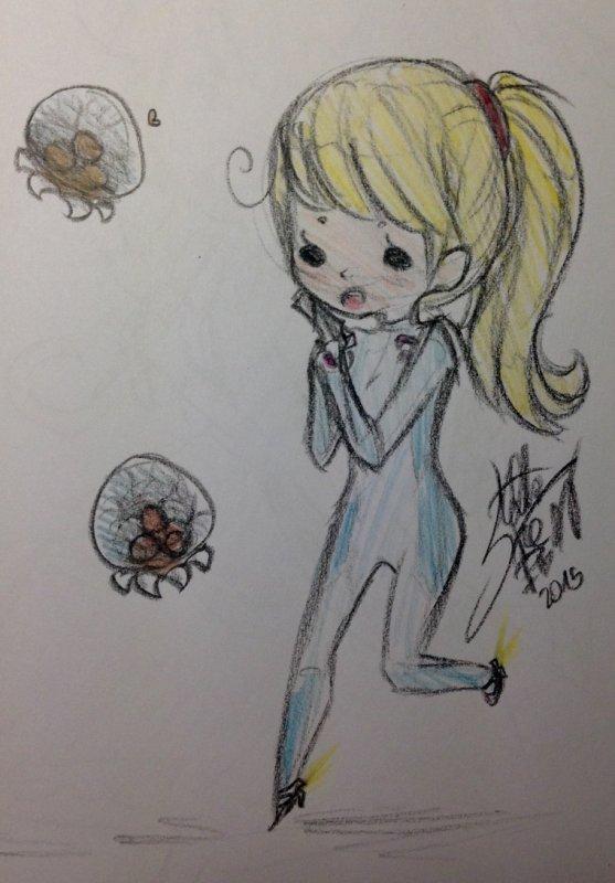 DRAWS: Les p'tits frères & s½urs du dessin de Gwen aux crayons de couleurs.