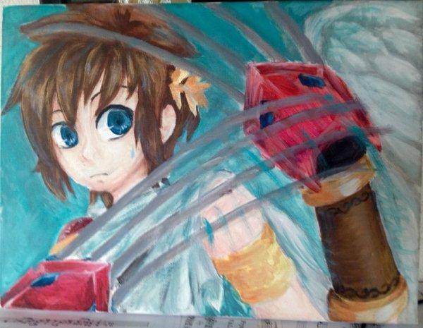 DRAW: Peinture sur toile de Pit, en EV. :D