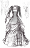 SKETCH: Molly's dress (and hair)