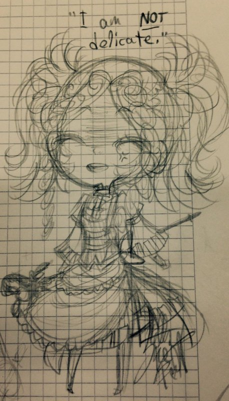 SKETCH: Mini Lissa -en cours de Maths-