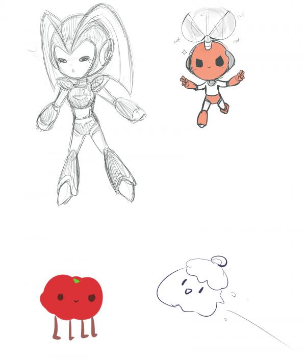 SKETCHS: Tomate sur pattes et compagnie--