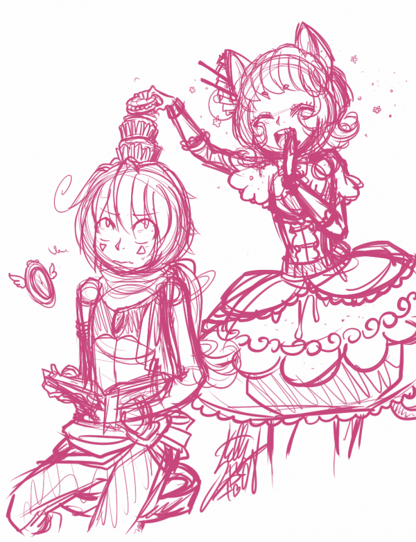 DRAWS: Cupcake tower with Imes (+ bonus)