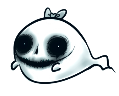 DRAWS: Cute ghost, Glouton-mimy, mini Naguie, Coton redesign