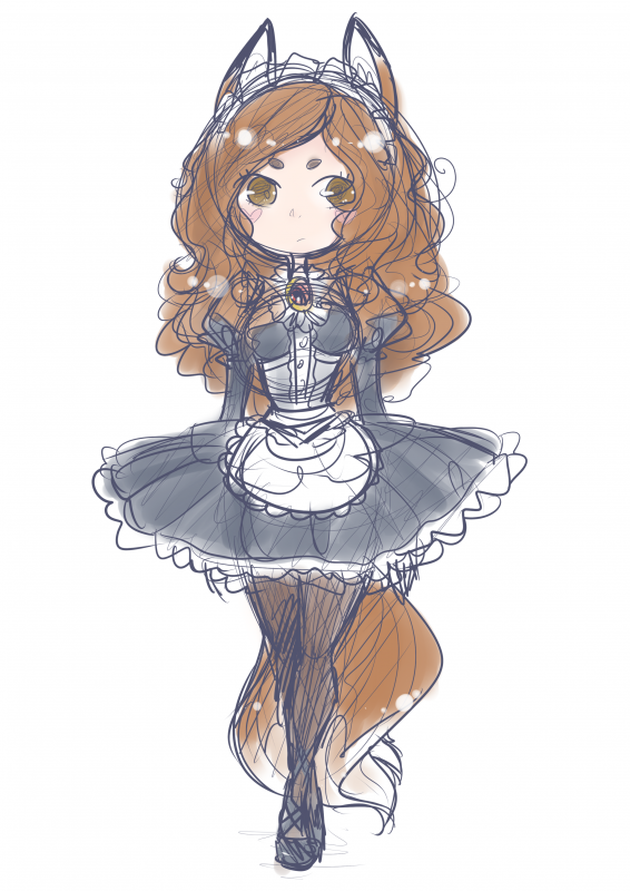DRAW: now ima maid