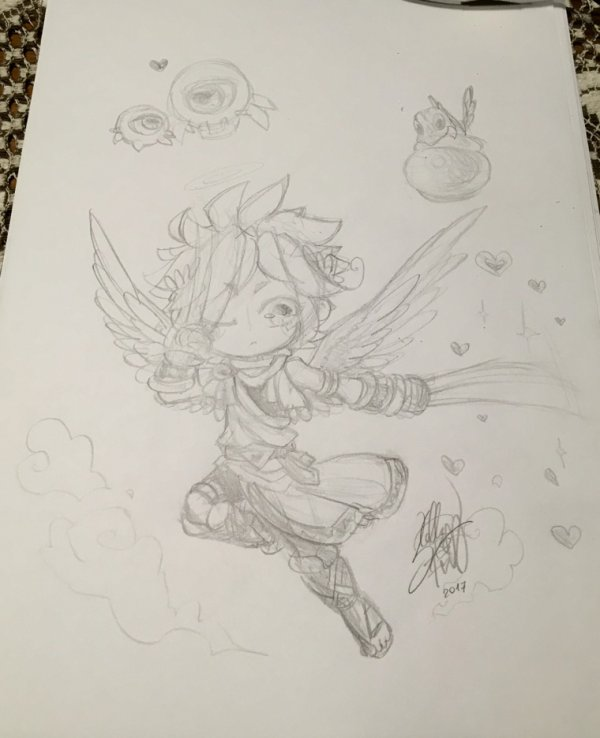 DRAWS: the hero and some enemies