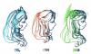 DRAWS: évolution d'une déesse, et d'une bordure de toge