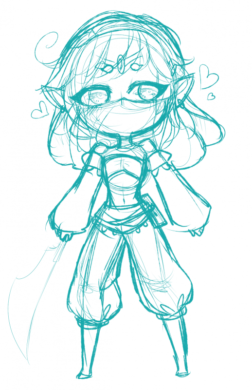 SKETCH: gerudo clothes