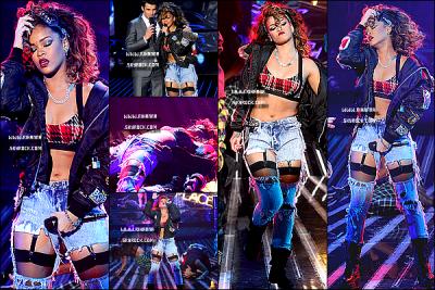 17/09/11 : Rihanna , était invitée sur le plateau de «X FACTOR» où elle a performé We found Love à LA.17/09/11 : Rihanna Fenty , était comme prévue invitée sur le plateau «d' Ellen DeGeneres Show» à L A ! .