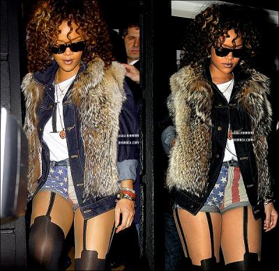 12/11/11 : Rihanna , a été aperçue dans une tenue très décontractée au resteaurant Nozomi à Londres.Plus que 9 jours à tenir avant la sortie du nouvel album de Rihanna. De plus, une partie de l'album « Talk That Talk » a été leaké.