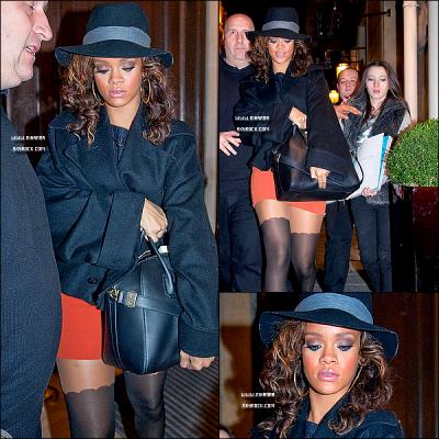 """21/10/11 : Rihanna,rejoint son hotel après avoir terminer ses deux concerts prévu à Paris le 20 et 21 Pour ensuitre repartir le lendemain matin pour donner un concert en Belgique à Anvers toujours dans le cadre du """" Loud Tour """" ! ."""