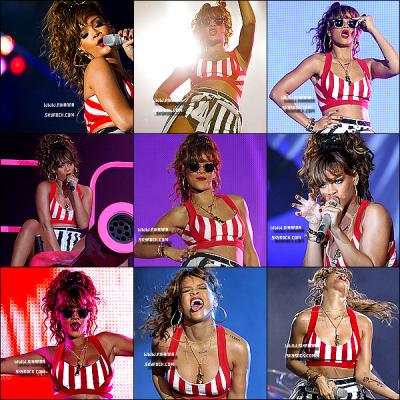23/09/11 : Rihanna Fenty , a donné un concert au festival Rock in Rio. Vous pouvez visionnez tout les live's .