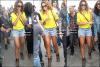 22/09/11 : Ri' , a été vue visitant le monument « Cristo Redentor » à Rio de Janeiro avec des fans autour.22/09/11 : Dans la soirée , Rihanna rejoint sa copine Katy Perry avec une tenue assez spécial, en boîte !