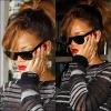 12/09/11 : La jolie Rihanna a été aperçue sortant de son hôtel afin de se rendre chez le Dentiste. Top ? .