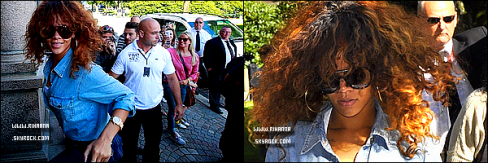 17/08/11 : Rihanna, continue de voyager. Cette fois la belle a attérit en Norvège. Un peu plus tard la belle a fait son premier show au Festival Calling Bergen. Rihanna fera un autre show dès Demain au même endroit