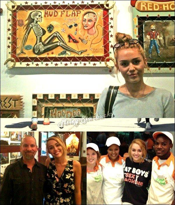 12/06  Miley va chercher son ami à l'aéroport de Miami