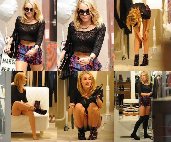 23/07  Miley fait du shopping à New-York