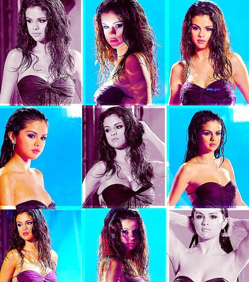 Selena lors d'un photoshoot pour son parfum.