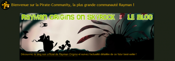 Le Blog sur le site Rayman Pirate-Community