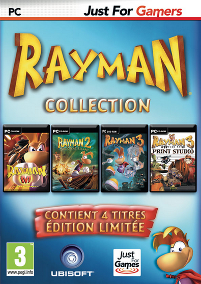 Pack Rayman M + Rayman 2 + Rayman 3 + Rayman Print Studio