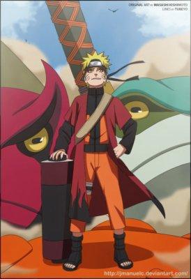 Naruto (mode Ermite) VS Les pain Rikudô (Tendô; Shuradô