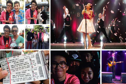 Le 23 février,Ariana était au House of Blues Anaheim.Des photos sont prises par ses fans.