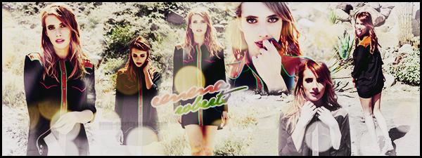 """"""" ● ● ● Bienvenue sur Emma-Roberts, votre source au quotidien sur Emma Roberts ! Découvrez l'actualité de la jeune actrice américaine de 27 ans, Emma Roberts sur ce blog et à travers différents articles divers et variés"""""""