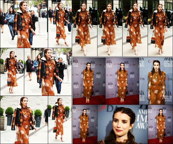 . 24/04/17 - Emma Roberts, a été aperçue par les paparazzis, quittant son hôtel, se situant dans New York City La belle actrice se rendait aux«39th Annual American Image Awards» ayant lieuau 583 Park Avenue. Sublime, mais bof la tenue ! .