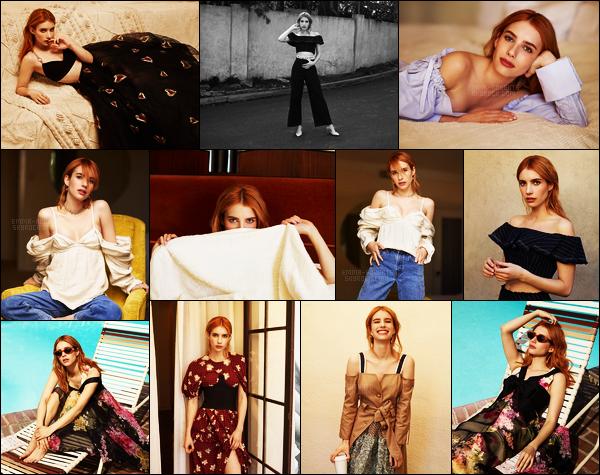 . Emma Roberts réalise un nouveau shoot pour «Who What Wear - Spring Issue » .