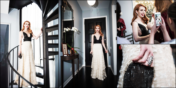 . Emma Roberts photographiée parBrandon Hickman durant les «Oscars » 2017 .