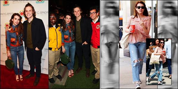 . 06/05/17 - Emma Roberts, était présente lors de l'événement «City Year »en compagnie d'Evan Peters, L.A Le 02 mai elle a également était aperçue dans les rues de New York.. J'aime assez son ensemble lors de l'évent, mais flop pour le candid ! .