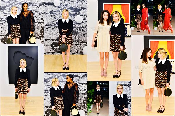 . 19.09.17 -Emma Robertss'est rendue au dîner « Chloe X MOCA» qui avait lieu au musée d'art contemporain, dans LA ! La belle actrice s'est rendue dans une petite tenue bien sympa à ce dîner ayant lieu dans Los Angeles. Je lui donne un top pour la tenue.. .