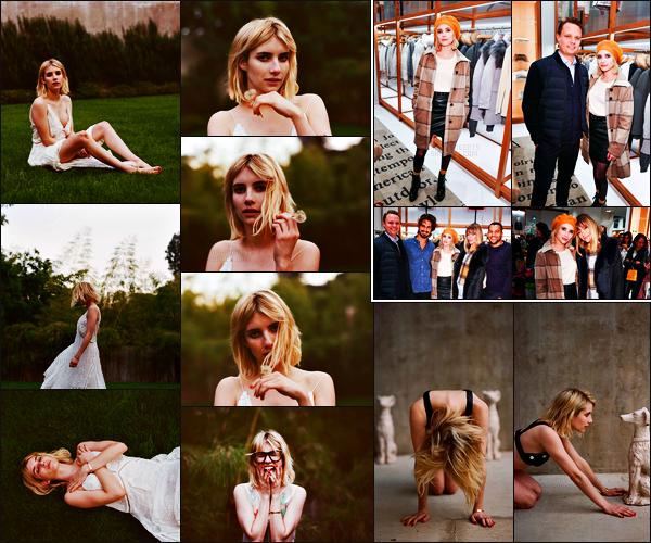 . 07.12.17 - Emma Roberts   était présente au «Woolrich Yorkdale Grand Opening»'▬'ayant lieu à Toronto, Canada.. Peu de photos disponibles pour cet évent, néanmoins Emma était sublime, un top ! Découvrez également un shoot réalisé par Nick Walker .