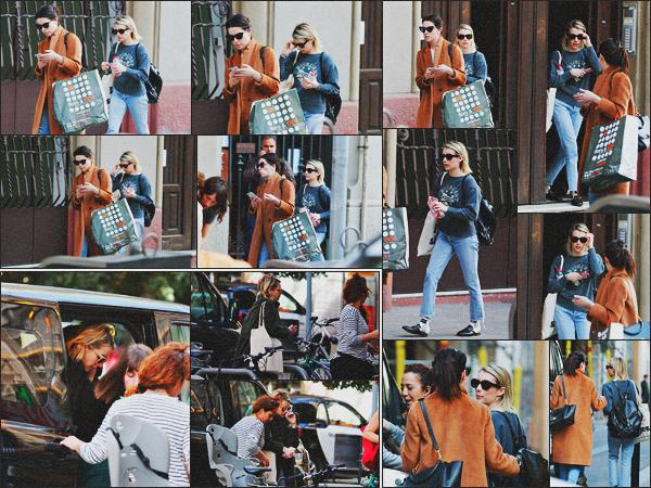 . 29.03.18 - Emma Robertsa été vue de nouveau sur le tournage de son prochain film«Paradise Hills »''▬''Espagne ! Toujours sur le tournage, la belle blonde a été vue arrivant sur le set du film Paradise Hills, en Espagne. Le 28 elle quittait son hôtel, bof.. .