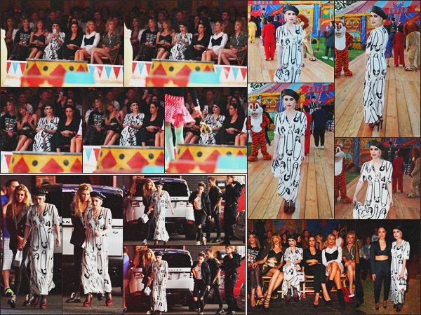 . 08.06.18 - Emma Robertsa assistée au défilé de la marque«Moschino  »''▬''se déroulant dans Los Angeles, en Calif'. Enfin ! Emma est de retour au pays après plusieurs mois d'absence. Elle était ensuite avec Stella Maxwell & Kristen Stewart à l'After Party. .