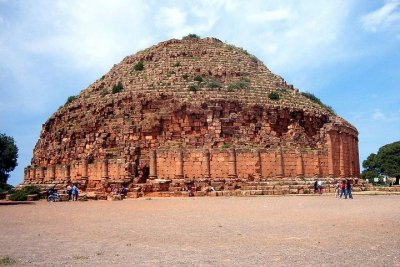 Le mausolée royal de Maurétanie, Est à Tipaza en Algérie