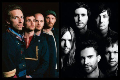 Coldplay ou Maroon 5 ?