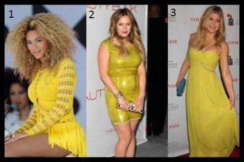 Jaune Jaune ou Jaune : Quelle est ta robe favorite ?