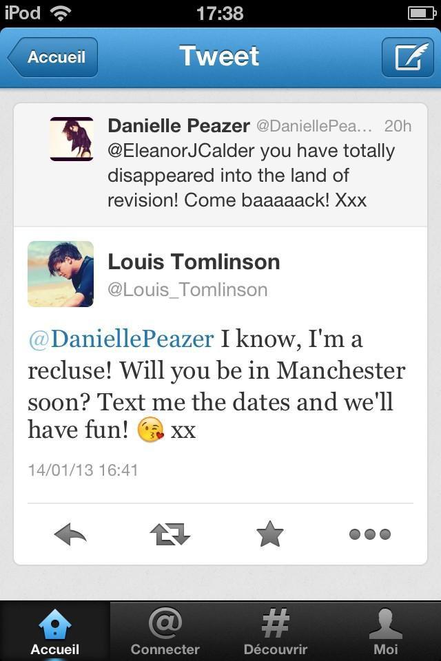 Le management tweet encore à la place d'Eleanor, mais cette fois depuis le compte de Louis !