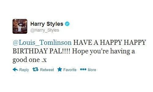 L'anniversaire de Harry et les Tweets de Louis