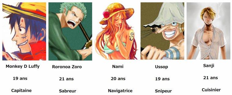 ~ Présentation de l'équipage de Luffy ♥.