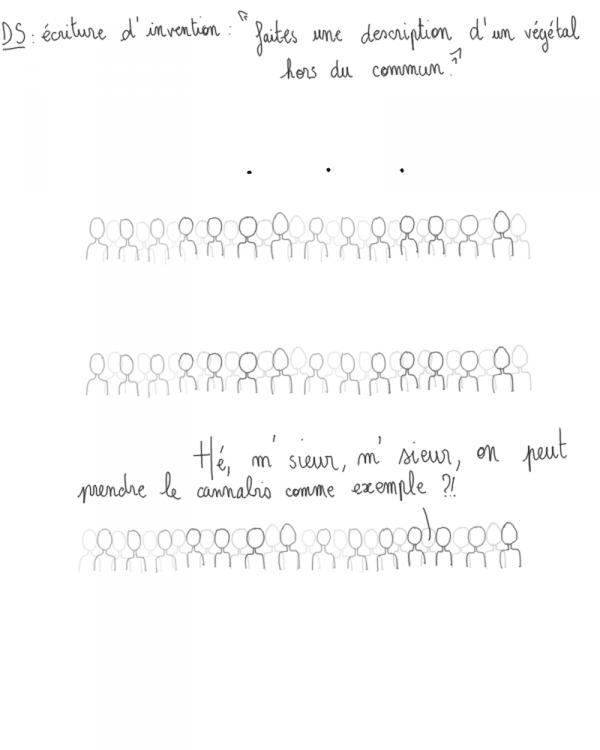 Vendredi 13; écriture d'invention en Français.. Pendant 2 heures, tu te dit que ce que t'écrit, ça sera jamais crédible quand le prof corrigera ta copie..