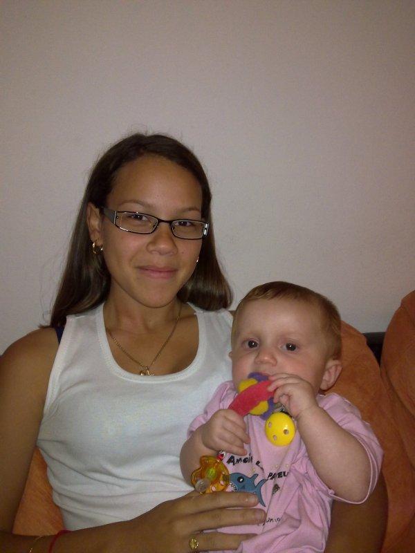 ma petite niéce et moi