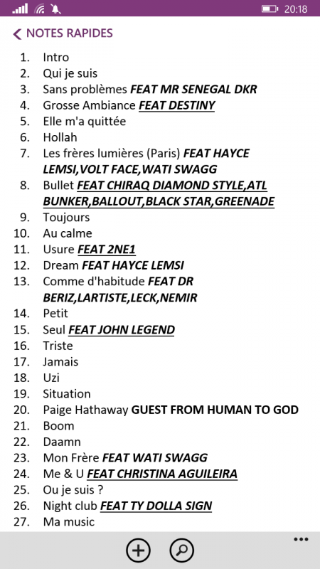 #BWARGUN TRACKLIST SANS FILETS