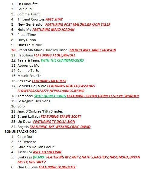 LA CONQUETE - Tracklist