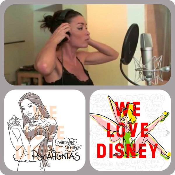 "Jenifer reprend ""L'air du vent"" dans l'album ""We Love Disney"" !"