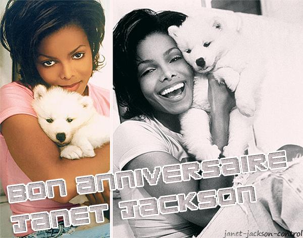 Joyeux anniversaire Janet Jackson ♥