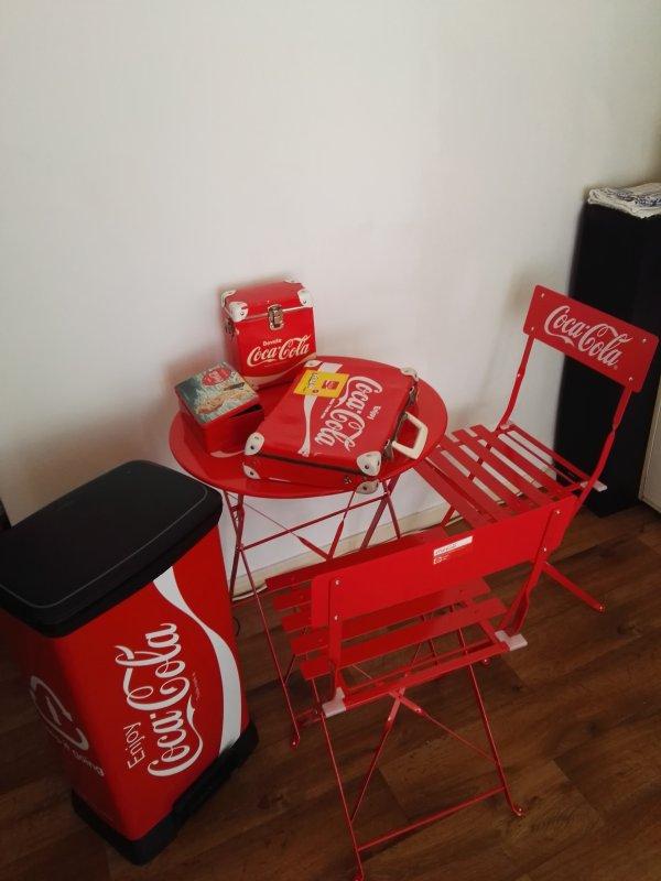 voici objets coca cola disponible tel pour les prix tout petits