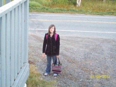 Moi a ma première journée d'école le 6 septembre 2011