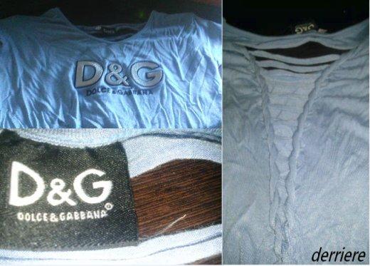 Je vends chaque hauts 15¤, neuf ( D&G jamais porter, les deux autres une ou deux fois pas plus)
